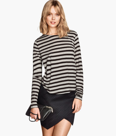 Grey stripe top