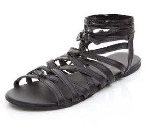 New Look Black leather caged £22.99