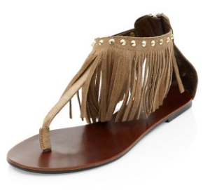 New look brown fringed - £27.99