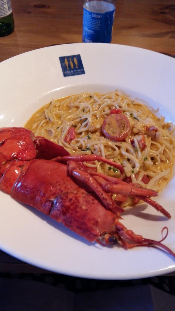 Loch Fyne lobster spaghetti