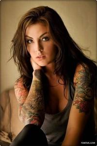 Tattooed woman
