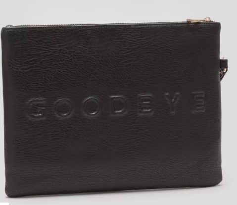 Matalan hello goodbye clutch bag