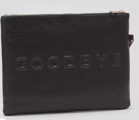 Matalan hello goodbye clutch bag