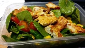 Piri piri chicken and spinach salad