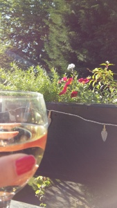 White wine in summer