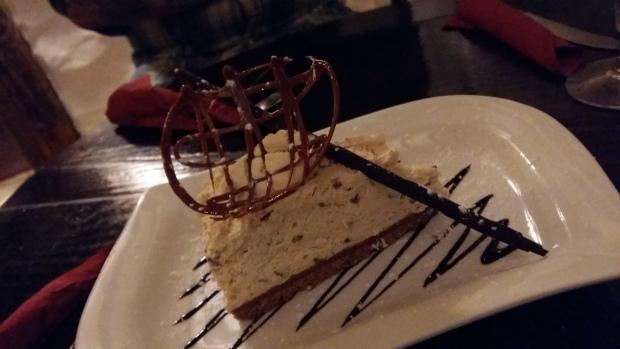 Cheesecake dessert at Ty Gwyn Betws y Coed