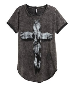 H&M cross t-shirt