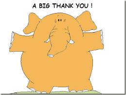 Thank you elephant