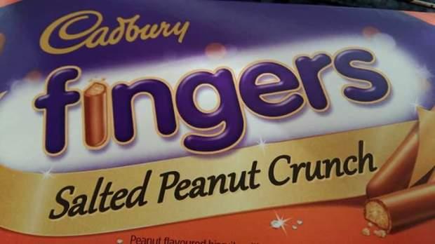 Cadbury's salted peanut crinh chocolate fingers