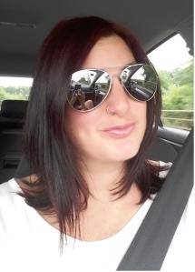 Me dark red hair