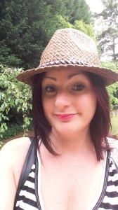 Me in straw hat and stripes