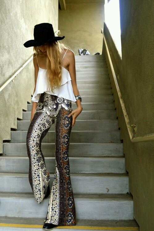 Pinterest flares and hat