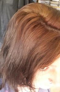 Stripped hair