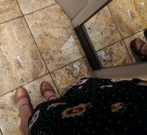 ASOS clogs and floral dress