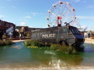 Banksy Dismaland police van