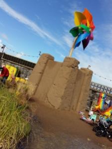 Dismaland giant sand castle