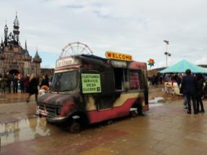 Dismaland ice cream van customer service