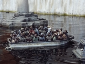 Dismaland remote control migrants