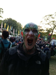 Face painted man