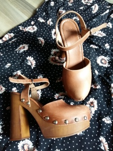 Floral dress ASOS clogs