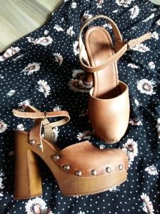 Floral dress ASOS clogs