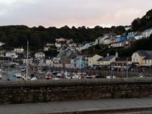 Looe harbour and houses