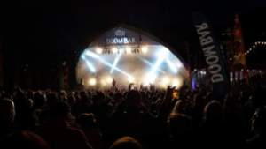 Looe Music Festival at night