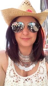 Straw cowboy hat selfie