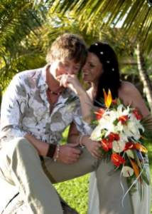 Us on our wedding day