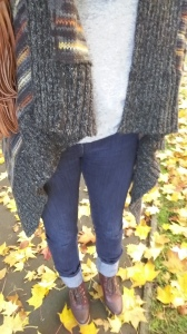 Autumn outfit blanket cardigan