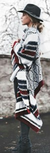 Blanket cardigan and hat