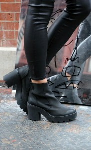 Chunky black boots