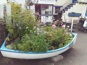 Fishing boat planter