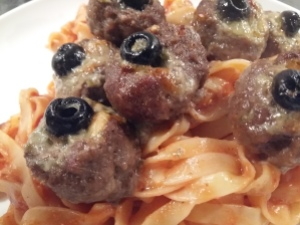 Meatballs and tagliatelle