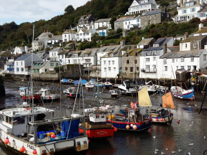 Polperro fishing boats