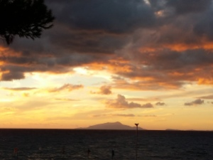 Sunset over Ischia