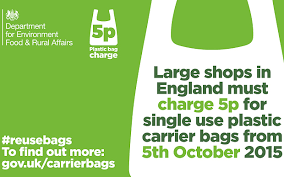 Carrier bag 5p law