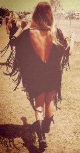 Fringed v-back festival boho dress