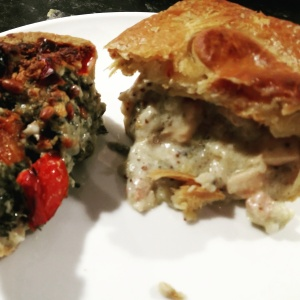 Higgidy pies spinach feta pinenut chicken ham leek