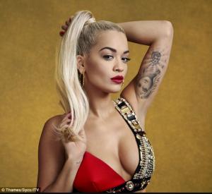 Rita Ora tattooed bicep