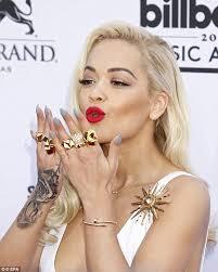 Rita Ora tattooed wrist