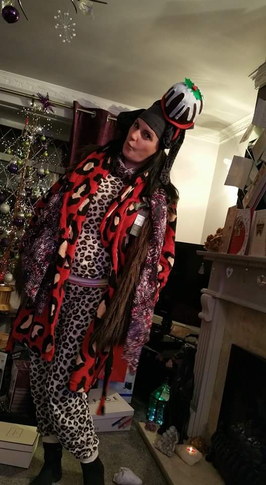 Christmas leopard print