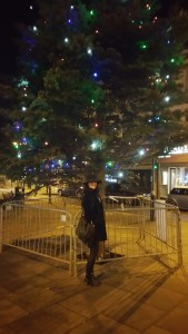 Me in front of Moseley Christmas tree