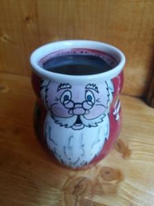 Mulled wine santa mug