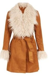 New Look 70s suede coat