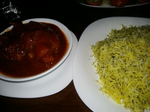 Saba persian restaurant lamb shank and fragrant rice