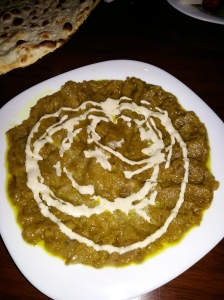 Saba persian restaurant mashed aubergine