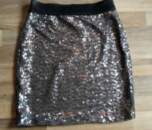 Asda George gunmetal sequin skirt