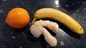 Orange banana and ginger