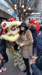 Chinese New Year - me and a dragon
